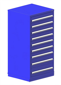 "Rack Engineering Modular Cabinet with (7) 5-7/16"", (2) 7-13/16"" drawers - 30""W x 27-3/4""D x 61-1/8""H"