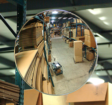 "Round Indoor Convex Mirror - 12"" dia."