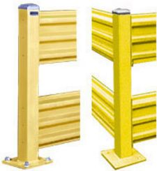 "Double High Steel Guard Post: 42"" H"