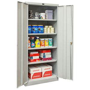 "Antimicrobial Cabinet w/ 4 Adjustable Shelves - 36""W x 18""D x 78""H"