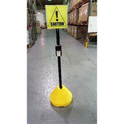 "Portable Double-Sided 18"" Interactive LED Safety Sign"