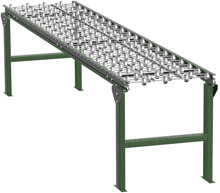 "Steel Skatewheel Conveyor - 5' long, 12"" wide, with supports"