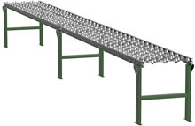 "Steel Skatewheel Conveyor - 20' long, 12"" wide, with supports"