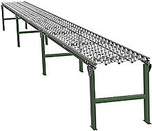 "Steel Skatewheel Conveyor - 30' long, 12"" wide, with supports"