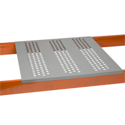 "Perforated Steel Pallet Rack Decking - 24""D x 46""W - Quantity of 12"