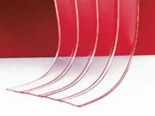 "12"" x .120"" x 150' Roll of Vinyl Strip Material - Ribbed Material"