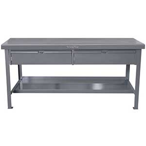 "Shop Table with 2 Drawers and 1 Shelf - 72""W x 36""D x 34""H"
