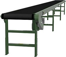 "Heavy Duty Slider Bed Conveyor - Model TL 42"" OAW, 52'-1"" long"