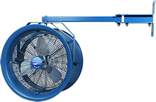 "Dock & Truck Cooler Fan -  18"" Dia., 230/460v / 3ph, 1/2-HP, 25"" Swivel Arm Mount"