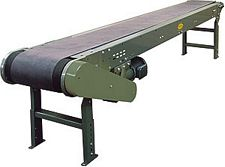 "Heavy Duty Slider Bed Conveyor - Model TL 30"" OAW, 52'-1"" long"
