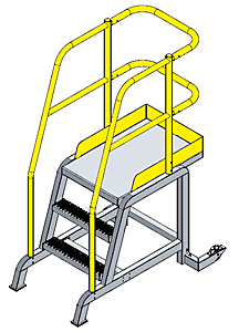"Tip & Roll Mobile Workstand w/36""H Deck"