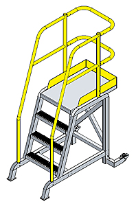 "Tip & Roll Mobile Workstand w/48""H Deck"