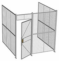 Three Wall Wire Partition