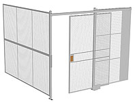 Two Wall Wire Partition