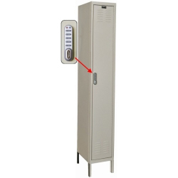 "1 Wide Single Tier DigiTech Electronic Access Locker - 12""w x 18""d x 72""h"