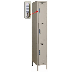 "1 Wide Triple Tier DigiTech Electronic Access Locker - 12""w x 18""d x 24""h"