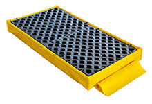 "Low-Profile Flexible Spill Deck Bladder System, 2-Drum - 27""L x 48""W x 5""H, Capacity: 3,000 lbs., 22 gal."