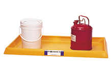 Spill Containment Tray - No Grate, Yellow