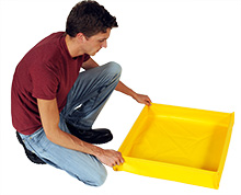 Folding Spill Containment Trays