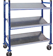 "Mobile Tilt Shelf with 3 shelf levels - 36""w x 18""d x 72""h"