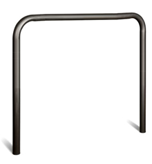 "U-Shape Steel Guard - 3.5"" OD x 48""W x 50""H, Painted Black"
