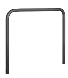 "U-Shape Steel Guard - 4"" OD x 48""W x 51""H, Painted Black"