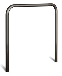 "U-Shape Steel Guard - 4"" OD x 41""W x 53""H, Painted Black"