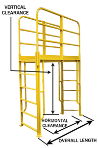 "Crossover with Ladder - 57"" Vertical x 49"" Horizontal Clearance, 65"" Overall Length"