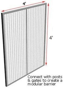 Machine Guard RapidWire HD Fully Framed Panel, 4'W x 4'H