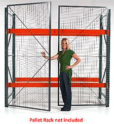 "Pallet Rack Security Enclosure, 9' w x 12' h x 3'-6"" d"