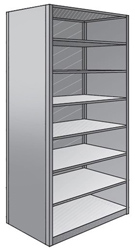 "Steel Shelving, Closed - 48"" W x 36"" D x 87"" H, 8-Shelf Starter, 350 lbs. cap."