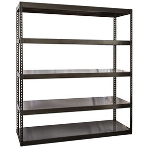"Steel Deck Rivet Shelving - 96""W x 24""D x 84""H, 5 Shelves, 1900 lb. Shelf Cap."