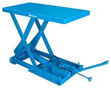 "Lift Table, Single-Scissor, 20""W x 40""L, Manual foot pedal, 1650 lbs. cap."