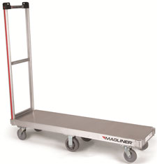 "Commercial Use Bulk Delivery Truck - 2 Handles & 16"" x 60"" Deck"