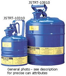 "Type I Blue Flammables (Kerosene) Safety Can, 1-gal., 7.25"" x 11.5"""