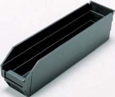 "Conductive Shelf Bin - 11-5/8"" x 2-3/4"" x 4"" - Carton of 36"