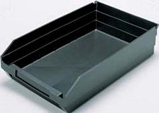 "Conductive Shelf Bin - 11-5/8"" x 11-1/8"" x 4"" - Carton of 8"