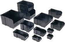 "Conductive Ultra Stack and Hang Bin - 10-7/8"" x 5-1/2"" x 5"" - Carton of 12"