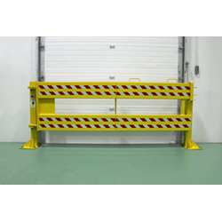 Folding Rail Dock Safety Gate - 13,500 lbs Impact Capacity, Double Rail