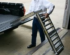 "Delivery Truck Folding Conveyor, 6'6""L x 14""W"
