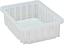 "Clear View Dividable Grid Containers - 10-7/8"" x 8-1/4"" x 3-1/2"", Qty: 20"