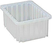 "Clear View Dividable Grid Containers - 10-7/8"" x 8-1/4"" x 5"", Qty: 20"