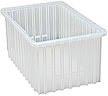 "Clear View Dividable Grid Containers - 16-1/2"" x 10-7/8"" x 8"", Qty: 8"