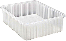 "Clear View Dividable Grid Containers - 22-1/2"" x 17-1/2"" x 6"", Qty: 3"