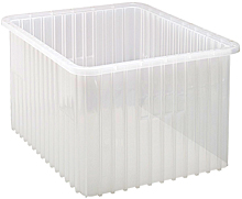 "Clear View Dividable Grid Containers - 22-1/2"" x 17-1/2"" x 12"", Qty: 3"