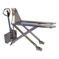 "Stainless Steel Pallet Lifter - Electric, 27""W x 47""L"