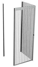 "Single Tier Galvanized Wire Bulk Storage Locker, 3' W x 3' D x 90"" H Adder Unit"