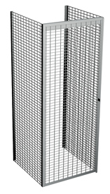 "Single Tier Galvanized Wire Bulk Storage Locker, 4' W x 4' D x 90"" H Starter Unit"