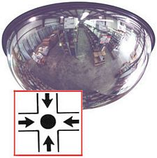Full Dome Mirror, Steel-Backed, 18-in. dia., 360º View