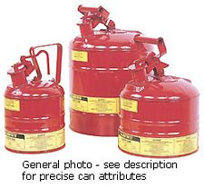 "Type I Red Flammables Safety Can, 2.5-gal. , 11.5"" x 11.375"""